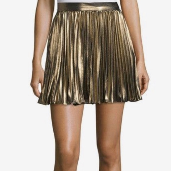 Haute Hippie Dresses & Skirts - About TO DONATE❗️NWT‼️Haute Hippie Gold Skirt